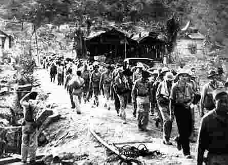 "Forced march without provisions, under barbaric treatment meted by Japanese Imperial forces, to Western and Philippine soldiers, resulting in an horrific death toll of POWs, World War II: Corregidor, Bataan, Philippines ""Death March"""