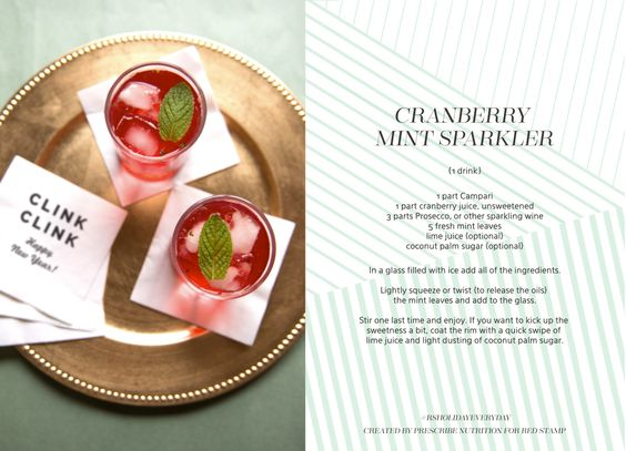 Healthier Holidays :: Cranberry Mint Sparkler with Prescribe Nutrition | Red Stamp