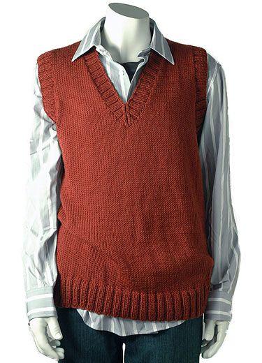 Knit Vest Pattern In The Round : Free Knitting Patterns: Free Pattern: Mans sweater vest by Berroco Ves...