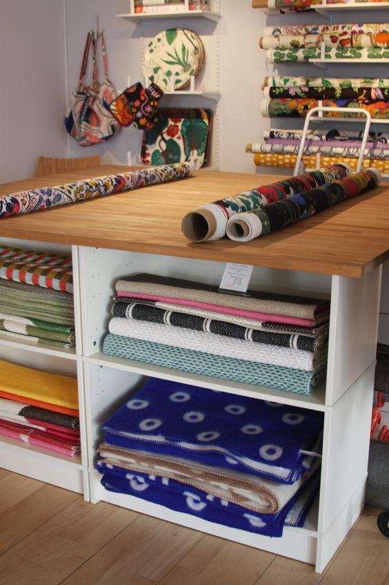 interior design fabrics - Fabric shop, Fabrics and Working tables on Pinterest