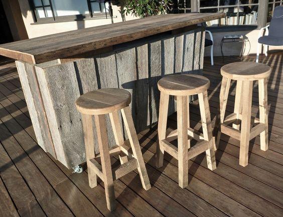 Goede Zelf een buiten bar maken van steigerhout - Achtertuin bar, Houten BF-38