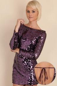 Purple sequin party dress - Style I Love - Pinterest - Sequins ...