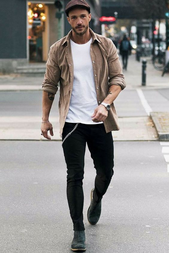 Beige High Street Leather jacket