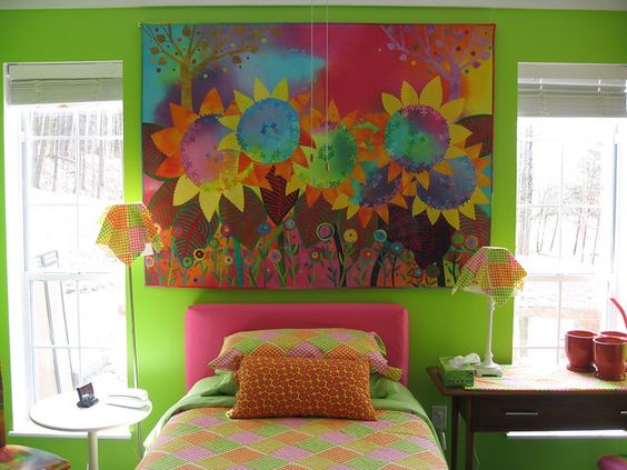 Sunflowers II fits the bed wall | Melody Johnson | Flickr