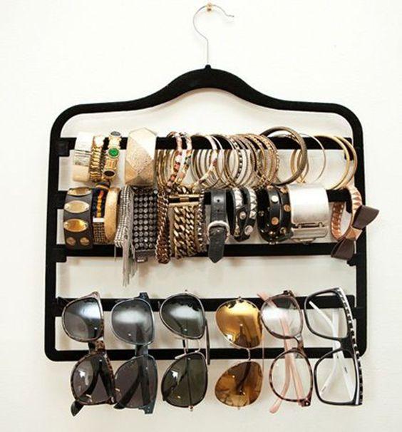 Solução para organizar óculos - pendurados
