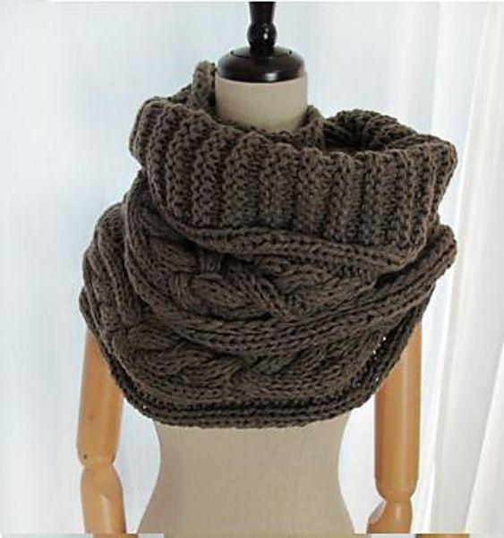 ravelry keiko infinity scarf snood cowl bulky