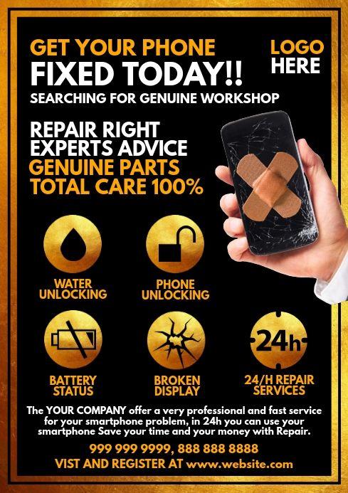 Mobile Phone Repair Service Template Phone Repair Mobile Phone Repair Repair