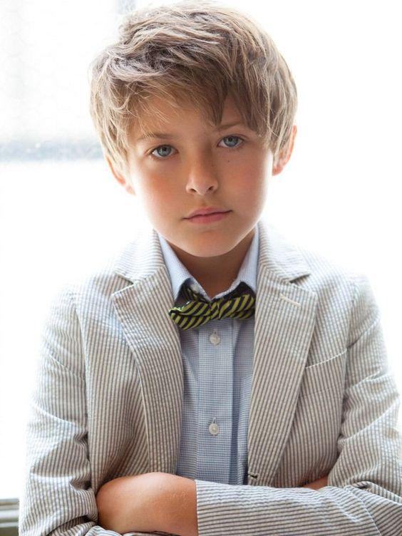 coiffure enfant garçon - coupe courte effilée