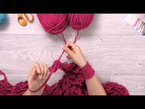 Phildar au tricot diy tricoter avec les bras - Tricot avec les bras couverture ...