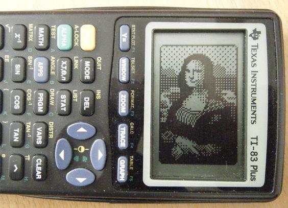 "Astonishing calculator art! -- ""Mona Lisa on a TI-83,"" by ~asianpride7625 on deviantART"