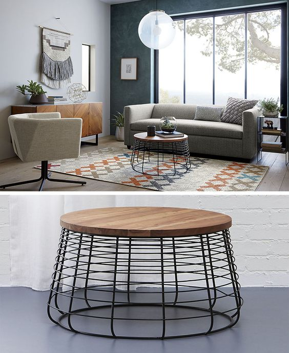 Wood Vs Marble Coffee Table Set: Round Coffee Tables In Glass, Wood