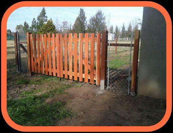 portón de quebracho Colorado. ALAMBRES 44