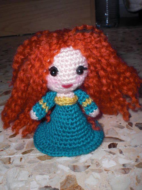 Designer Crochet Amigurumi Patterns Merida Warrior Princess : princess Merida stuffed toys, dolls, etc Pinterest ...