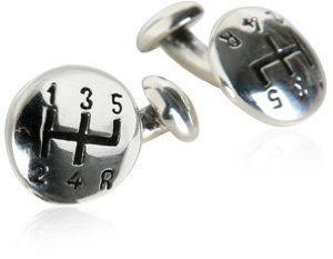 Sterling Silver Gearshift Cufflinks by Cuff-Daddy #cufflinks #mensfashion #automotive
