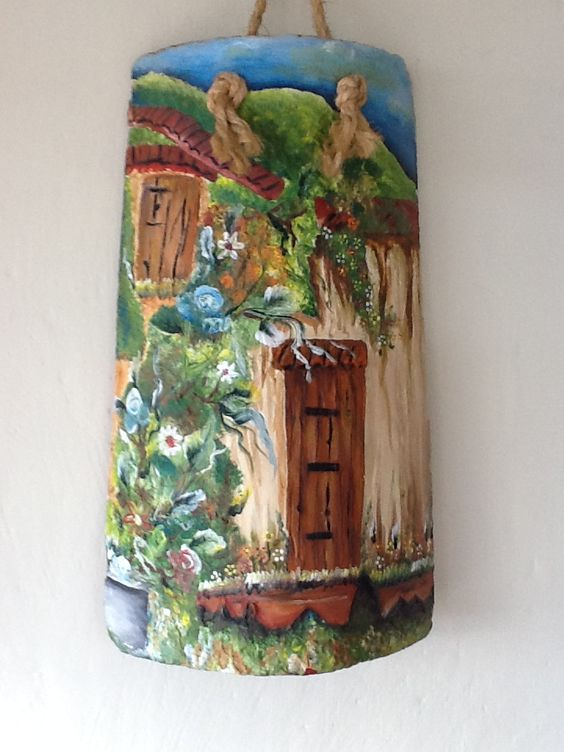 Teja pintada tejas pinterest for Pintura para tejas