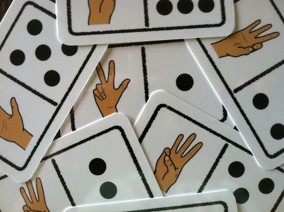 Sign Language Dominoes (Help peers learn sign language so they can communicate with student who uses it).