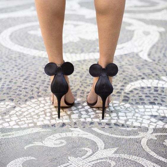 Mickey Mouse Heels by Oscar Tiye
