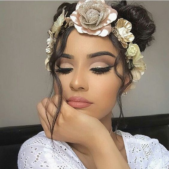 Beautiful light pink + Bronze cut crease + Eyeshadow = Perfect Wedding Day Makeup ✿̶̥̥ ¤ Like this pin? Follow me for more @rosa.vannoy ツ