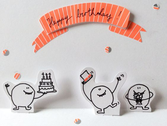 Geburtstag popup karte diy happy birthday greeting popup - Geburtstagskarte pop up ...
