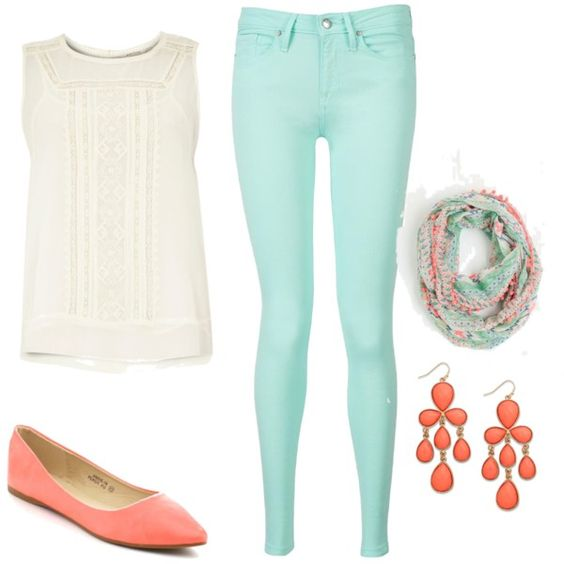 summer 2015 outfit. love the colors!