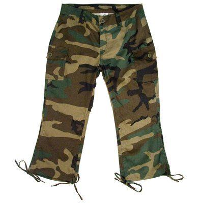 Camouflage Capri Pants