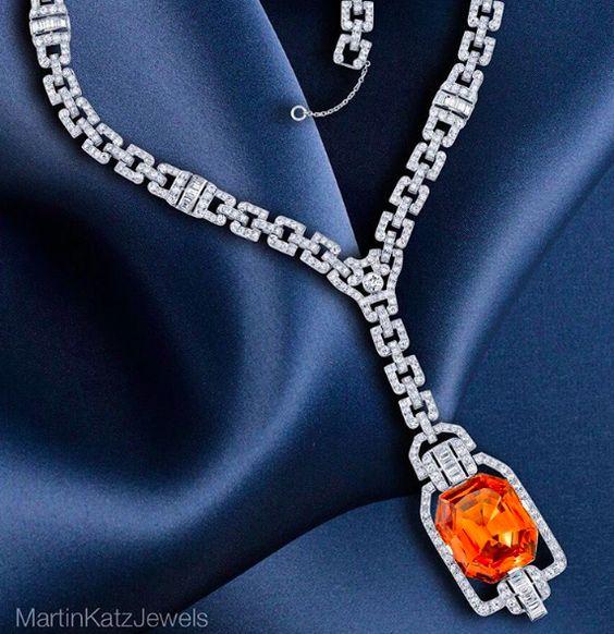 #jewelry #finejewelry #diamonds #imperialtopaz #topaz #necklace #luxury…