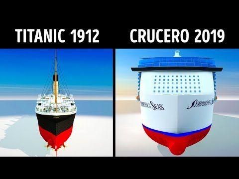 Docentesinformatizadosenred Titanic Vs Cruceros Modernos Titánico Barco Crucero Cruceros