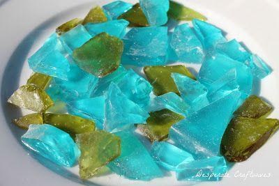 Sea Glass Candy - Frozen Birthday Cake