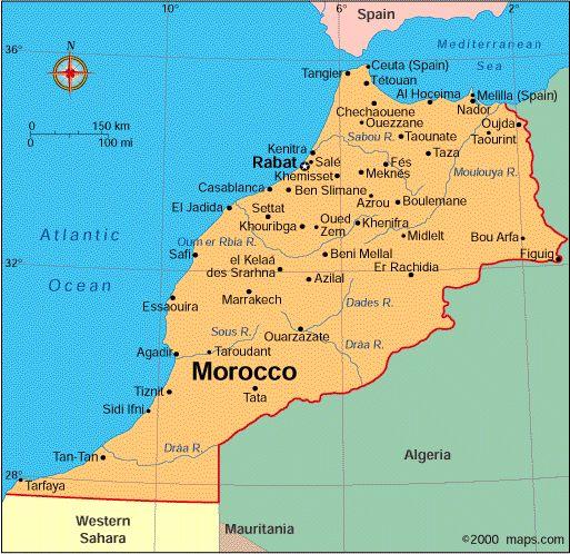 モロッコ 地図