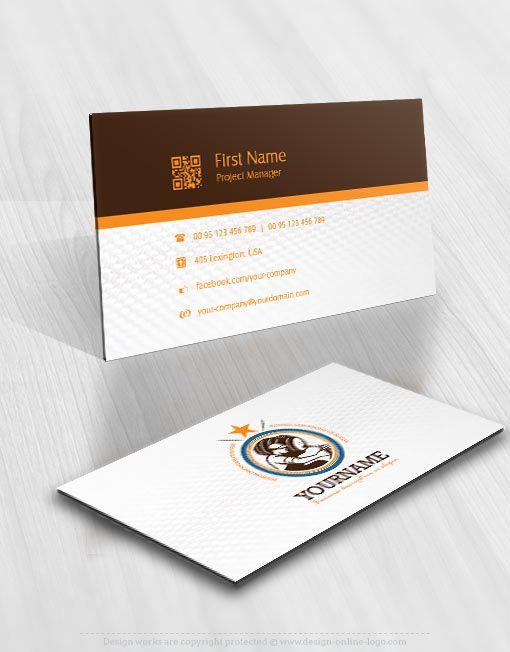 Exclusive Design Vintage Beer Logo Free Business Card Online Logo Design Custom Logo Design Free Business Card Design Free Business Cards Double Sided Business Cards