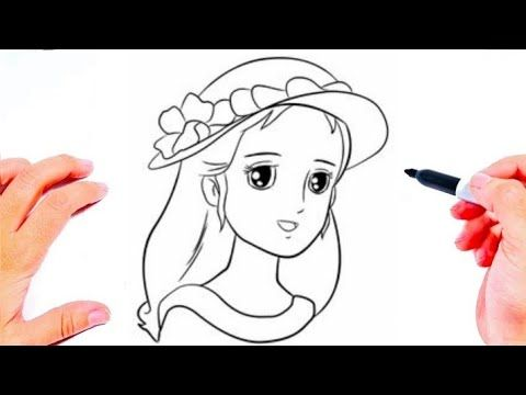 رسم سهل جد تعليم رسم فتاة 9