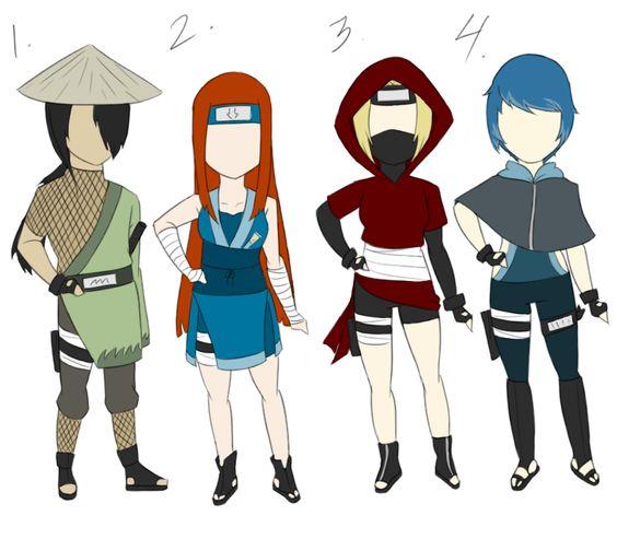 Naruto Adoptables -Mixed Batch- 9 ::CLOSED:: by FudgeNugget on DeviantArt