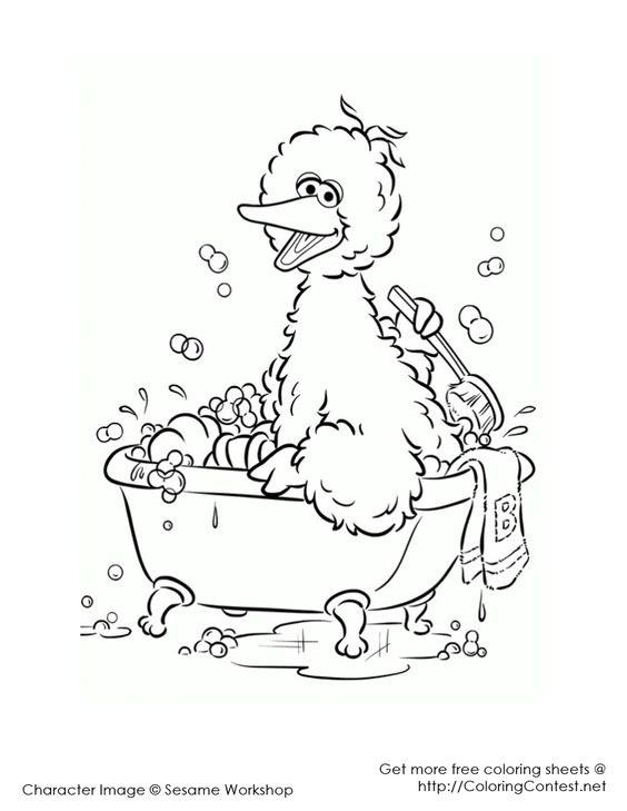 Show us big bird and colouring pages on pinterest for Big bird coloring page