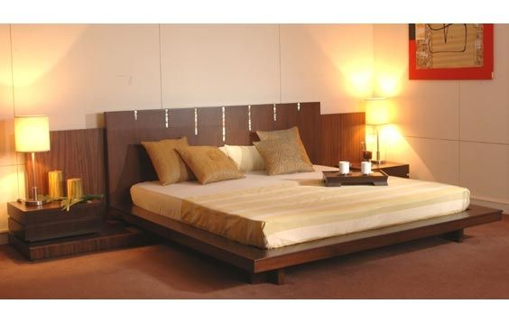 Utbed buy doublebed with bed sides table by living spaces online in delhi find the wide - Beds in small spaces collection ...