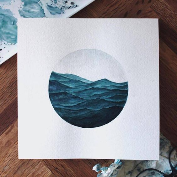 Poetic Ocean Watercolor Painting � Fubiz Media:
