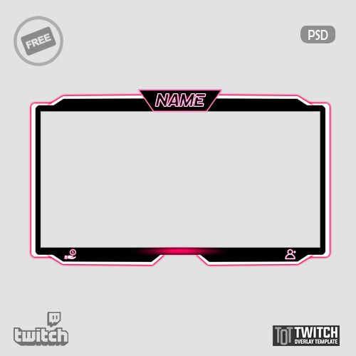 Crepe Facecam Twitch Overlay Template In 2020 Overlays Twitch Overlays Cute