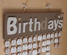 Pivoine et Caramel | calendrier anniversaire