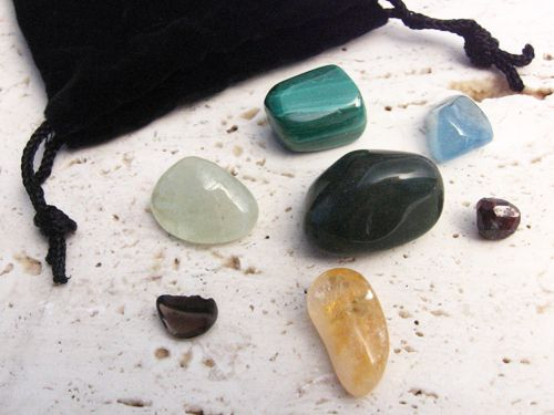 Aventurine: Helps balance the extremes to which the Scorpion is prone. Aquamarine: Represents the structured, healthy, healing water that flows through this water sign. Apache Tear Obsidian: Helps Scorpio deal with difficult situations from a realistic point of view and provides an attitude of forgiveness. Blue Beryl: Gives the mind clarity and balance while protecting against negative thinking; also helps ease the mental pressure that Scorpios sometime cause themselves.