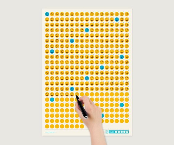 "Life Calendars are a serie of different calendars which highlight an aspect of life.  Life Calendars by Brigada Creativa  Life Calendars by Brigada Creativa  Life Calendars by Brigada Creativa  Life Calendars by Brigada Creativa ""How was your day?"" is the first of the series. The 365 days of the year are represented by an emoticon that you have to draw considering how was your day: very good, good, ordinary, bad or very bad. More Info: Brigada Creativa adv:"