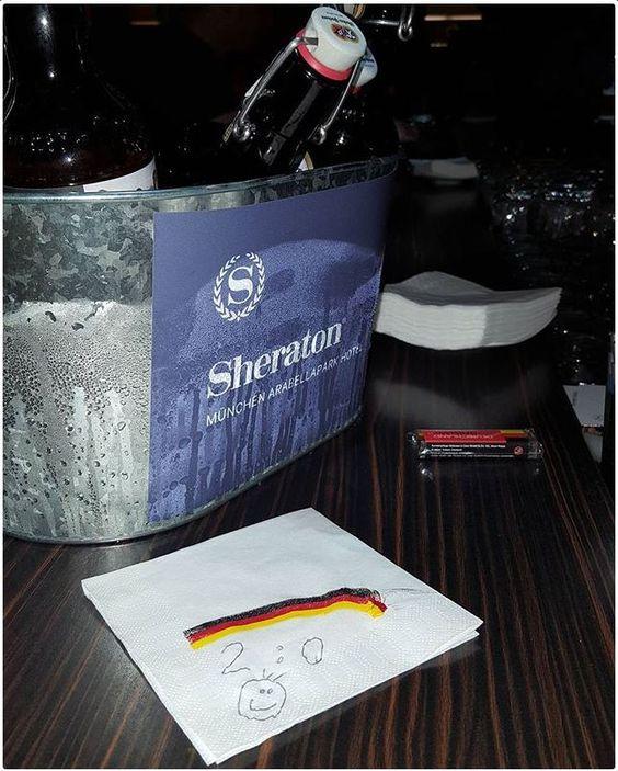 2:0 - Das ist der heutige Tipp für das EM Match Deutschland - Nordirland von der #Bar5. Was tippt ihr? ;)  Ab 18.00 Uhr sind wir wieder mit dabei!  2: 0 Today's tip for the EM match Germany - Northern Ireland from the # BAR5. What do you think? ;) Will you join us at 06.00 p.m.?  #Sheratonmunich #betterwhenshared #EM2016 #GERNIR