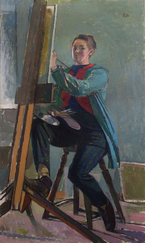 "Evelyn Dunbar, ""Self-portrait"" (nd), oil on canvas (© The Artist's Estate, courtesy of Liss Llewellyn Fine Art)"