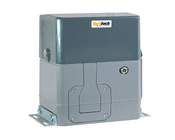 Very quiet and powerful geared motor for sliding industrial gates up to 2000 kg. Requires no maintenance. Remotely controllable of broad scope. Smooth start and stop. Sliding engine Mercury 2000 works at 230 V.  *3 years warranty