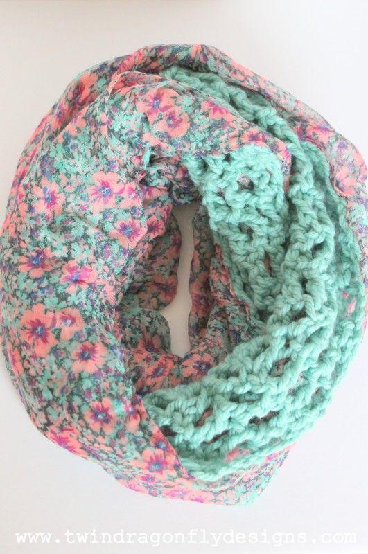 Crochet Infinity Scarf Free Tutorial : Crochet Chiffon Infinity Scarf Tutorial Infinity Scarfs ...