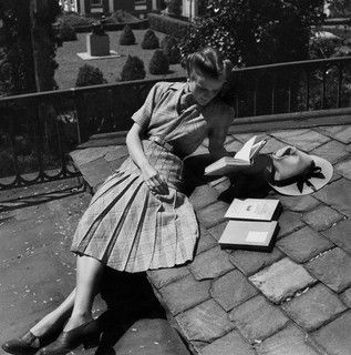 Model is wearing a shirtwaist dress of Glen plaid wool, 1939. #vintage #fashion #1930s