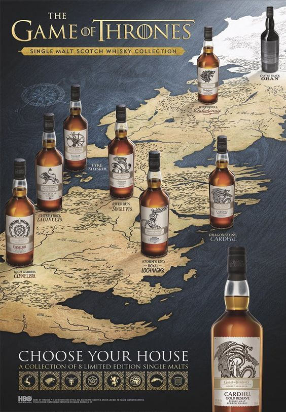 Johnnie Walker Releases New Game Of Thrones Whiskey Collection Purewow Whisky Collection Malt Whisky Whisky