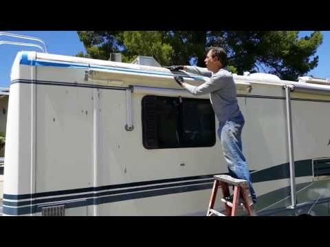 How To Reseal Rv Corner Molding Youtube Liquid Roof Leaking Roof Rv Roof Repair