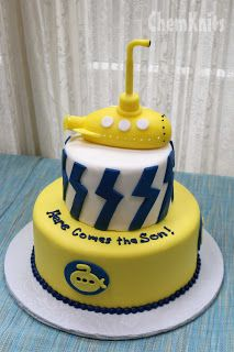 ChemKnits: A Beatles Themed Baby Shower!