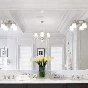 Wall Mirror With Sconces Attached Bathroom Light Fixtures Bathroom Sconces Beautiful Bathroom Decor