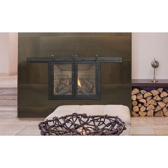 Paterson Sliding Masonry Fireplace Glass Door Fireplace Doors