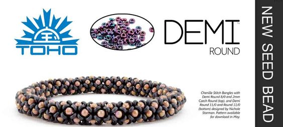 For beaders around the world, the newest Toho seed bead shape, the Demi Round, is a whole new way to elevate your beading game. Using the most cutting edge technology while combining Eastern precis…: